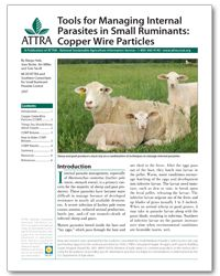 Tools for Managing Internal Parasites in Small Ruminants: Copper Wire Particles | ATTRA