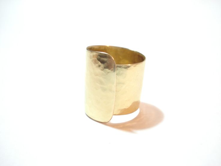 Hammered Brass Wide Band Ring Bronze Cuff Statement Adjustable Ring Modern Handmade Ring Contemporary Unique Band Ring by AnnaRecycle on Etsy