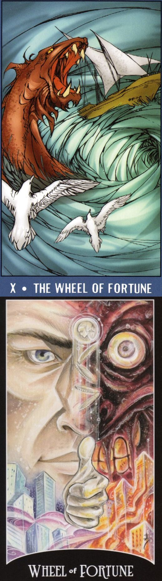 WHEEL OF FORTUNE: cycles and helplessness (reverse). Undersea Tarot deck and Justice League Tarot deck: free three card tarot, free accurate tarot card reading vs yes no tarot reading. The best witch aesthetic and tarot decks for sale.