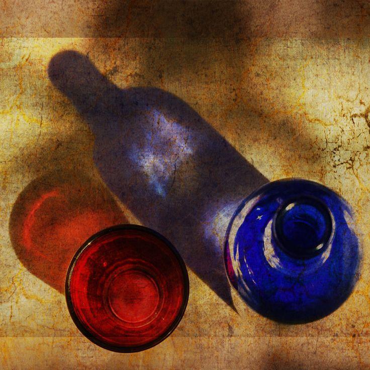 jean pierre delmur Verre et bouteille.
