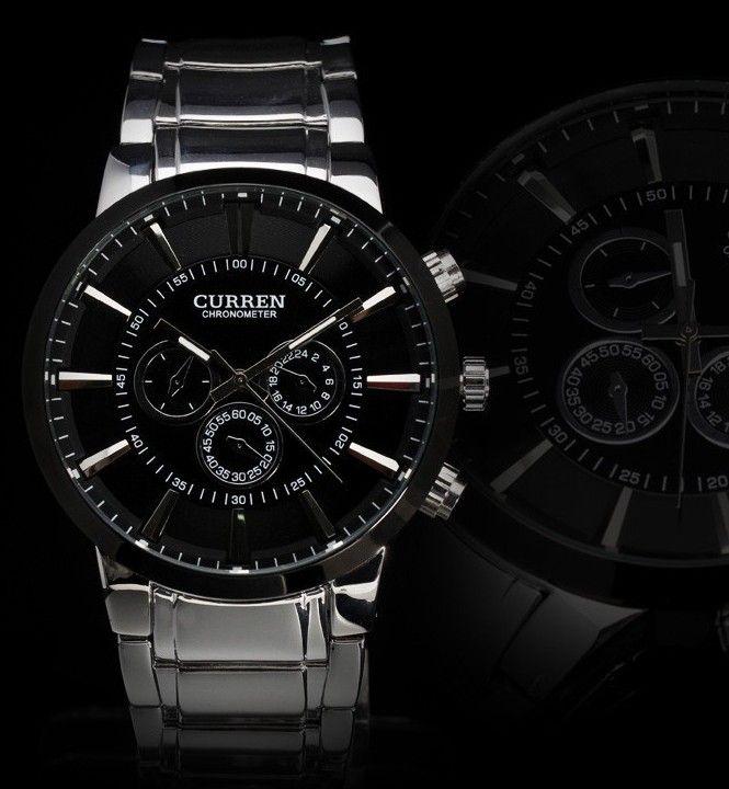 602373c8449 Stylové pánské hodinky Curren BLACK STEEL černé Na tento produkt se  vztahuje nejen zajímavá sleva
