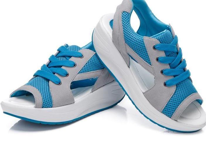 >> Click to Buy << 2017 Fashion Summer Women's Sandals Casual Sport Mesh Breathable Shoes Women Ladies Wedges Sandals Lace Platform Sandalias  #Affiliate