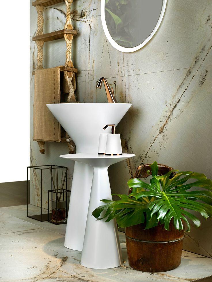 Cono by Gessi #luxury #bathroom #brassware