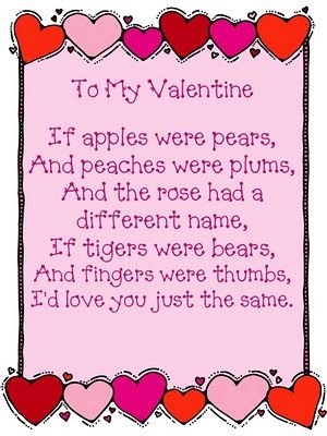 Valentines Day Poems for Teachers | Valentines day poems ...