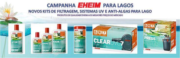 Campanha EHEIM para Lagos - Novos Kits de Filtragem, Sistemas UV e Anti-algas para Lagos | Aquacomets - Aquários, filtros e acessórios…