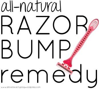 all-natural razor bump remedy