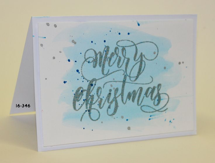 #SSS #SSSfave Simon says Stamp Merry Christmas embossed with Papermania superfine silver and Ecoline watercolor with video https://www.youtube.com/watch?v=7f4pGGCbQ9o