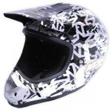 Casque No Fear Scratch Noir gris or - Speedway #casque #enfant #speedway #noir #moto #cross #motocross