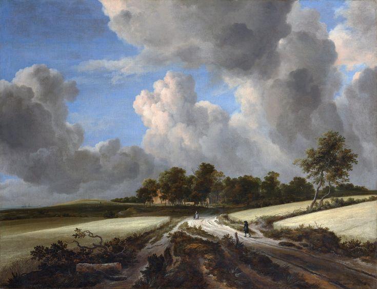 Голландский художник-пейзажист Jacob van Ruisdael (1628-29 - 1682). Пшеничные поля