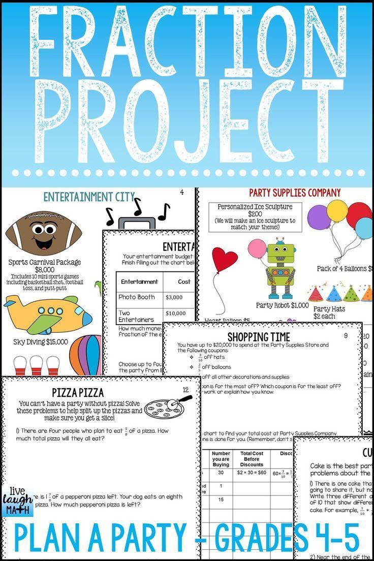 fraction project | terrific teachers | fractions, math, math fractions