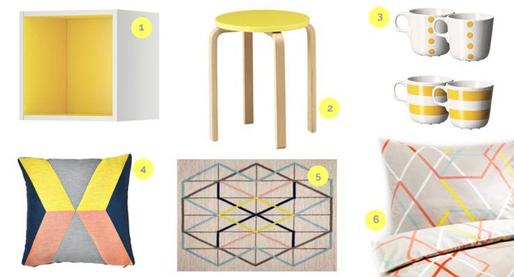 #Ikea + amarillo. Verano 2014. Selección decoracionde-interiores.com