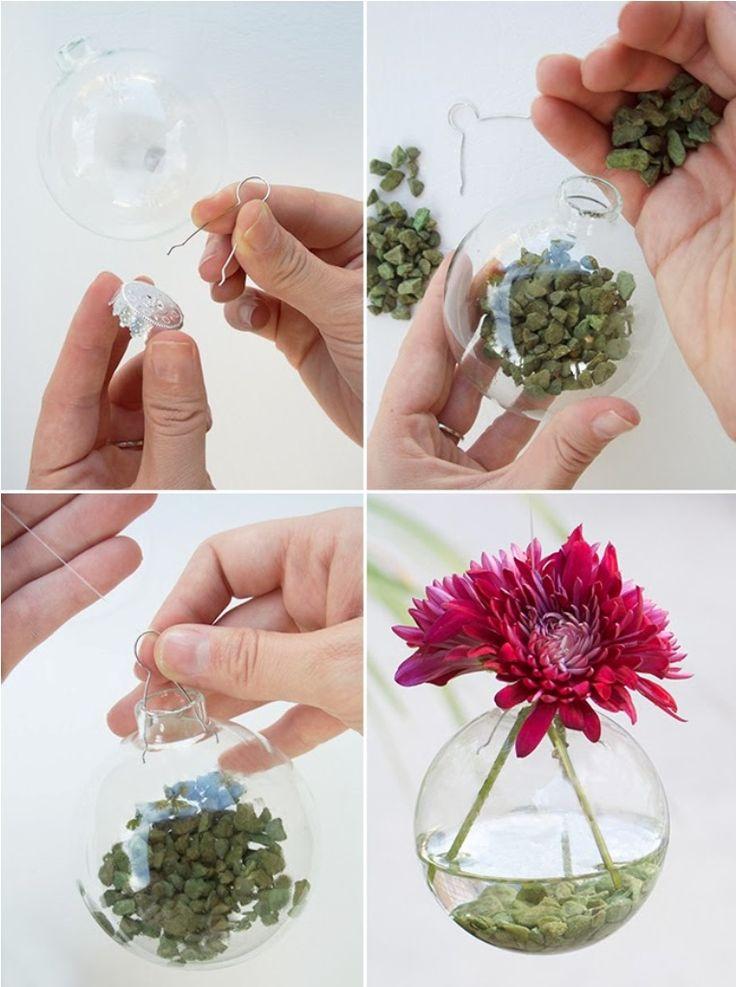 DIY Christmas Ornament Vase D I Y Home Decor
