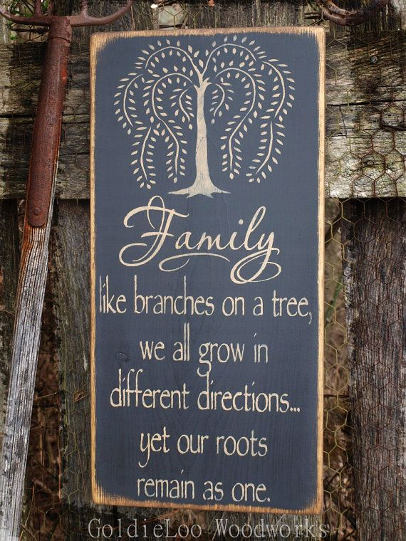 Family Primitive Wood Wall Sign Word Art by GoldieLooWoodworks