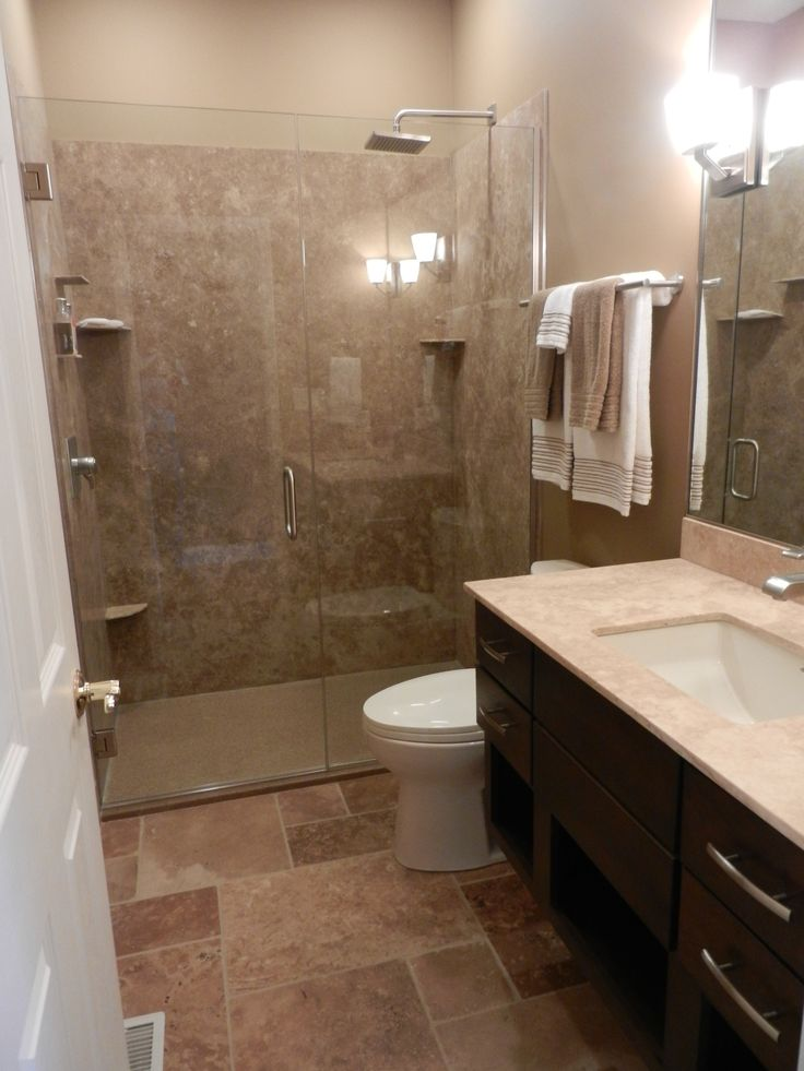 Proof that my 5 x 8 5 bathroom with this exact door - How to layout a bathroom remodel ...
