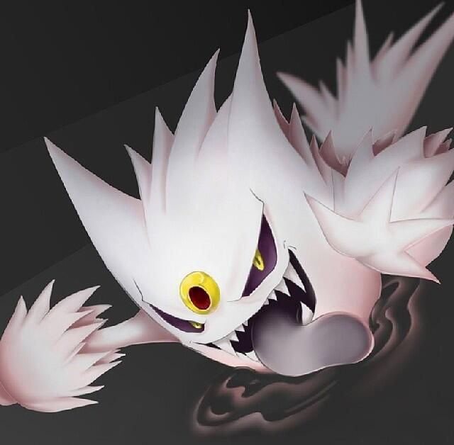 Shiny Mega Gengar. This thing is positively scary