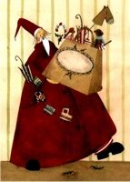 Karte Nikolaus mit Tüte