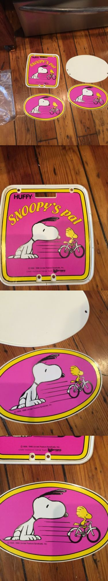 Decals Stickers 106953: Rare Nos Old School Huffy Snoopys Pal Number Plates-Bmx-Woodstock-Peanuts-Muscle -> BUY IT NOW ONLY: $135 on eBay!