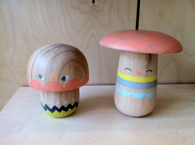 I'm the proud new owner of these amazing Beci Orpin Mushrooms! Love!