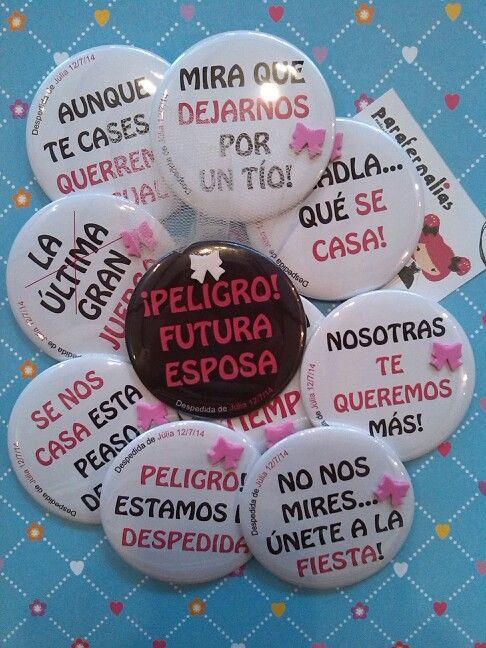 Chapas despedida de soltera  Http://modayabalorios.blogspot.com