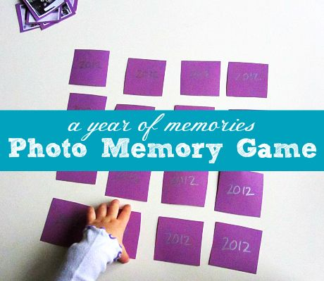 Photo Memory Game for Kids from No Time for Flashcards