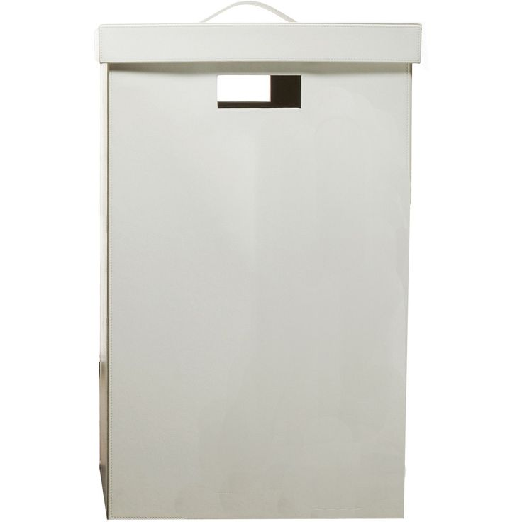 DWBA Square Hamper Laundry Basket with Lid Easily Transport - Artificial Leather