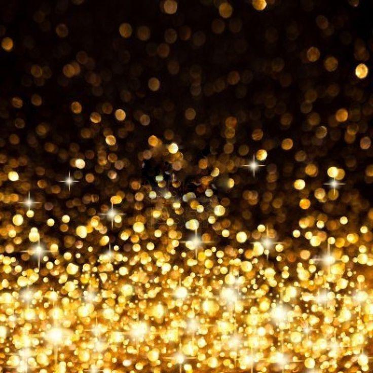 golden twinkle lights background - Christmas Twinkle Lights