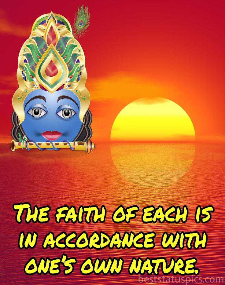 Krishna Quotes Images In English in 2020 | Krishna quotes ...