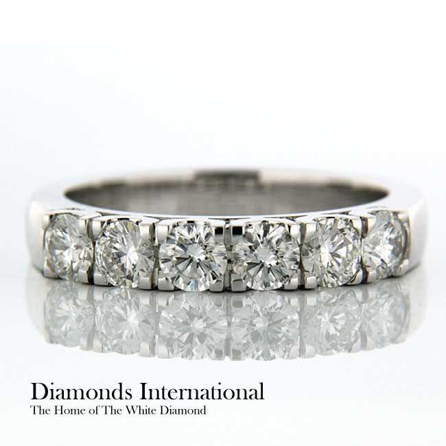 Claw Set Wedding Ring 18ct White Gold Claw Set Wedding Ring. Product Reference 0405042 #diamonds #diamondsinternational #wedding #ring #jewellery #engaged #couples #happy #life #love #like #bling #whitegold #gold #white