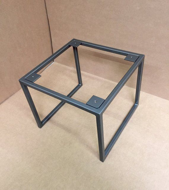 Design Square Coffee Table Base Industrial Square Base Steel