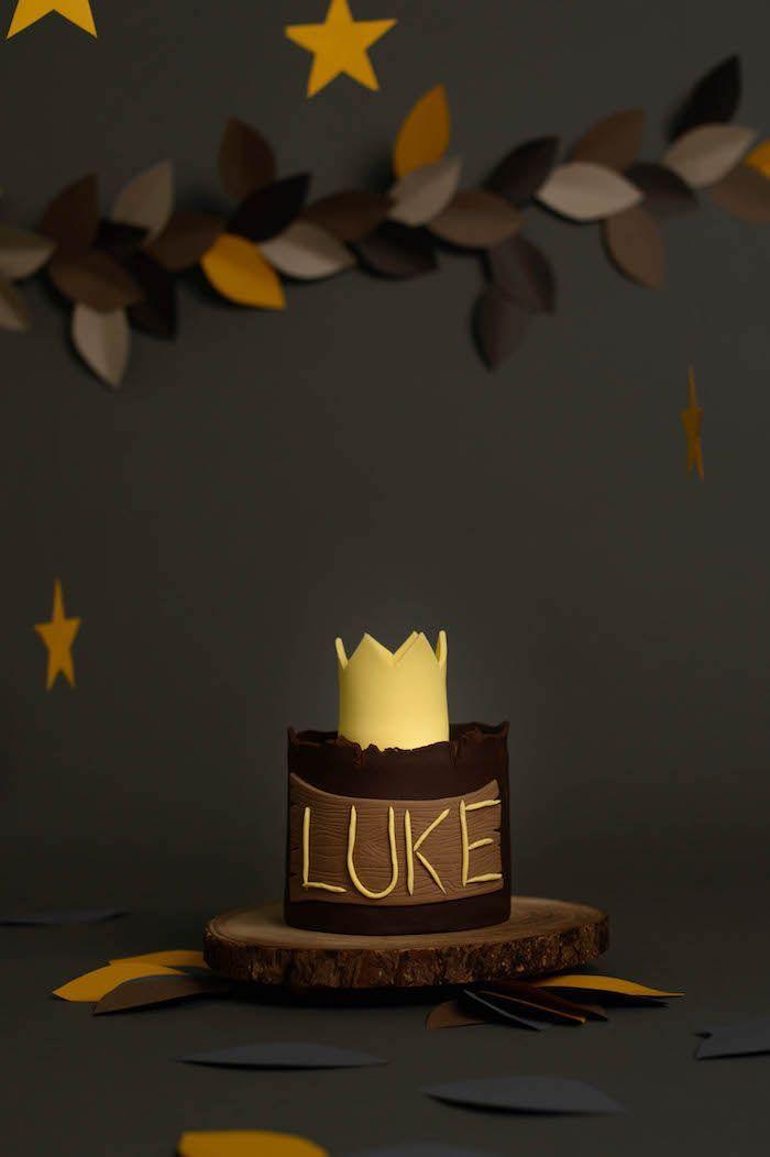 "Smash Cake from a ""Wild One"" Where the Wild Things Are Cake Smash + 1st Birthday via Kara's Party Ideas - http://KarasPartyIdeas.com (30)"