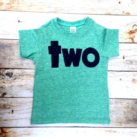 Triblend Mint Green boys 2nd birthday shirt with navy two kids birthday theme second party