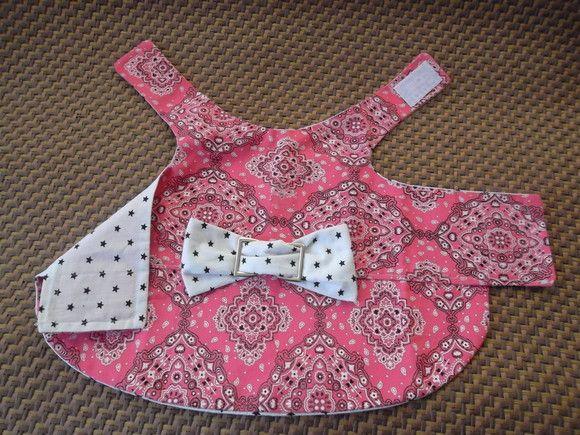 vestido em algodão bandana,forrado,com laço de fivela de metal,fechamento reajustavel em velcro.tamanho médio. R$35,00