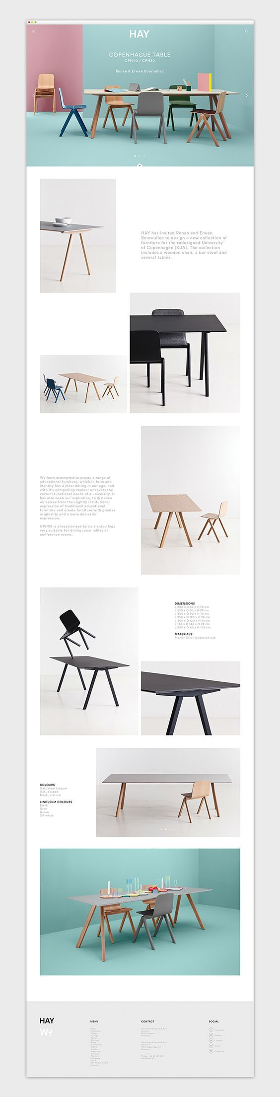 MODERNISM TRENDS - With most modern designs the layout is usually clean, concise and minimal. Keeping straight to the point and easy to understand and follow. As shown in this design the objects are the overall focus and the information is secondary. This is because communicating through visuals works and gains the viewers attention.: