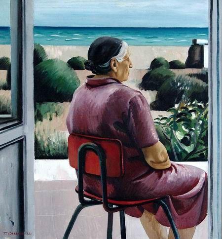 Салахов Т.Т. Ожидание. Портрет матери. 1982