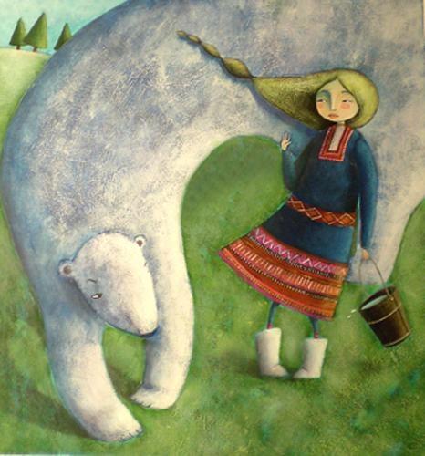 Arctic fairy tales by Peluso Martina. - Acrylic.