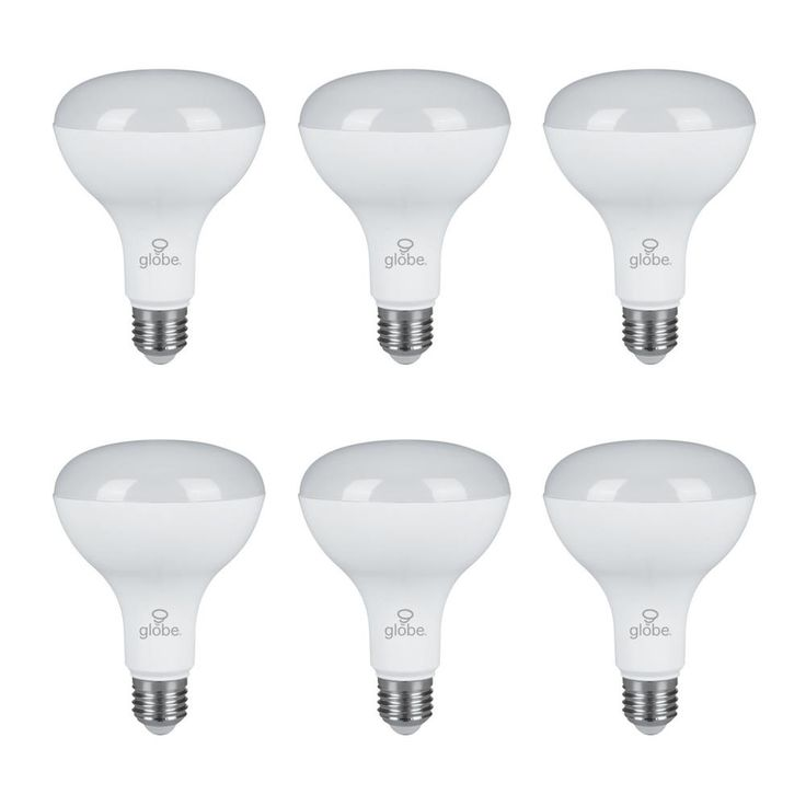 Globe Electric 65W Equivalent Warm Light BR30 Dimmable LED Light Bulb (6-Pack)