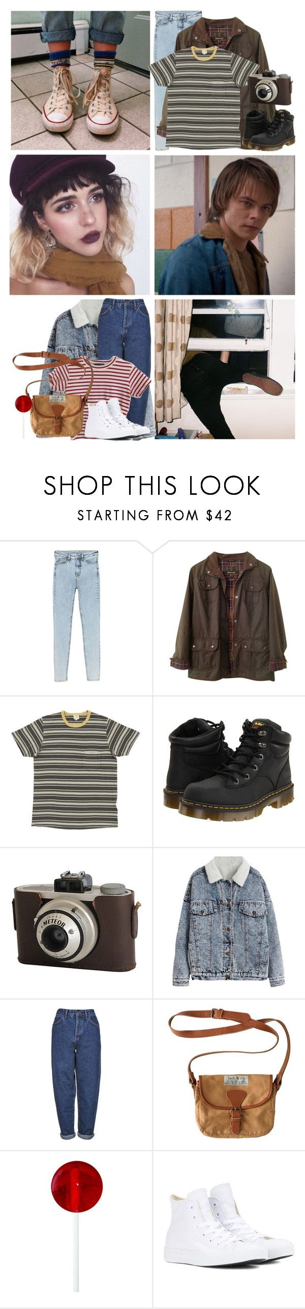 """""""• STRANGER THINGS HAVE HAPPENED •"""" by daddys-little-angxl ❤ liked on Polyvore featuring American Eagle Outfitters, Monki, Barbour, Dr. Martens, Boutique, Jack Wills, Converse, strangerthingsoc and meetthelittleangxls"""