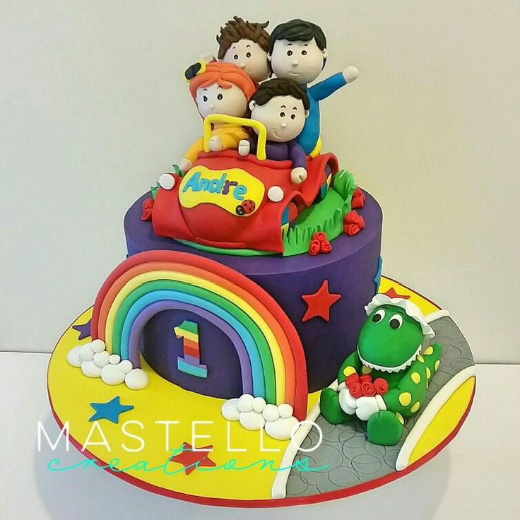 The Wiggles birthday cake Fun cake for little kids Made by Mastello Creations