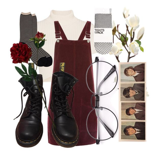 """""""the coral that lies beneath the waves"""" by qimmig on Polyvore featuring Staud, Topshop, Dr. Martens, Antipast and Laura Cole"""