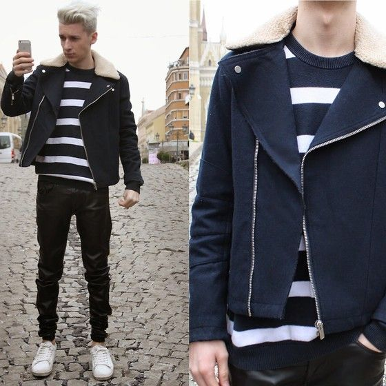 StreetFashion101 Vladimir Gašić - H&M Jacket, Lacoste Sweater, Zara Leather Pants, Sprigfield Sneakers - Be Right There
