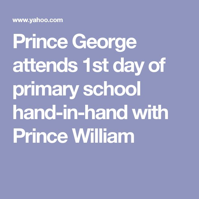 Prince George attends 1st day of primary school hand-in-hand with Prince William