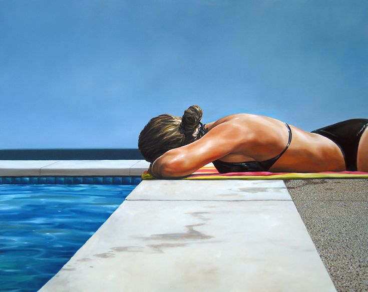 "Eric Zener oil painting ""Hot""....I love his work."