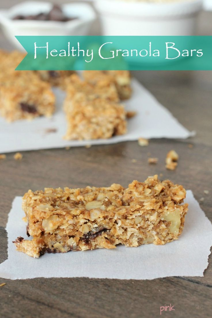 Homemade granola bars made the 'real food' way with all natural ingredients!