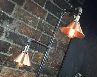 Pipe Floor Lamp Industrial Floor Lamp by newwineoldbottles