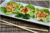 """Sweet 'n Spicy Chicken Lettuce Cups used TJ's just grilled chicken strips and TJ's sweet chili sauce. Decent for a quick """"I'm tired and don't want to cook anything"""" night"""