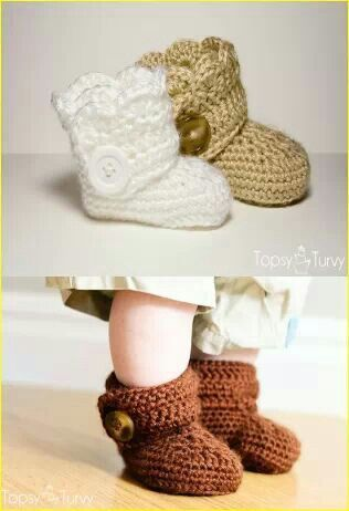 OMG! Too cute. Baby booties