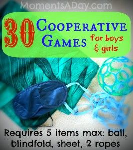30 Cooperative Games for Preschoolers. Free Printable resource (requires subscription to newsletter).