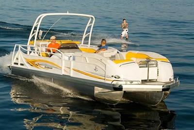 Tritoon boat! @Amanda Fleming here ya go!