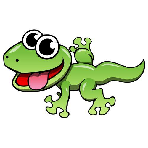 Cartoon Lizard Clip Art | Cartoon Leopard Gecko Photo...