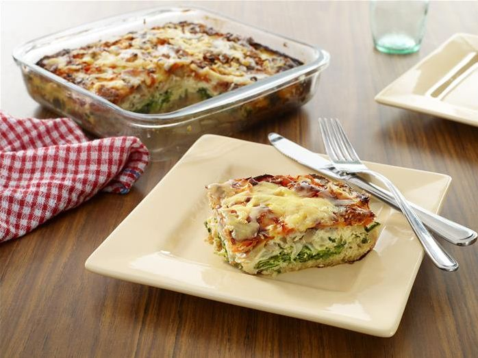 A no fuss, simple quiche. Add your favourite ingredients!